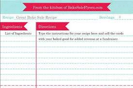 free recipe card template for word free printable recipe card