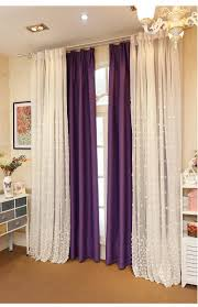 embroidered embossment tulle curtains for bedroom window curtain