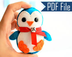 baby penguin ornament pdf sewing pattern a656 on luulla