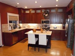 Kitchen Pictures With Oak Cabinets Modern Kitchen With Oak Cabinets Dark Brown Kitchen Counter Simple