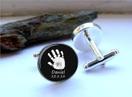 Personalized Keepsake Handprint Cufflinks Custom Cufflinks Personalized Keepsake
