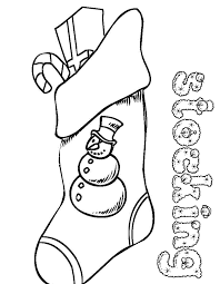 download coloring pages christmas stocking color christmas