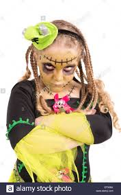 Halloween Monster Costume by With Face Paint And Halloween Monster Costume Isolated In