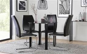 Black Glass Dining Room Sets Glass Dining Sets Furniture Choice