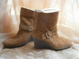 s gissella ugg boots uggs lace up brown wedge boots 7 collection on ebay
