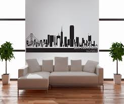 san francisco city skyline silhouette vinyl wall art stickers decal