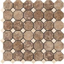 Shower Floor Mosaic Tiles by Marazzi Travisano Trevi 12 In X 12 In X 8 Mm Porcelain Mosaic
