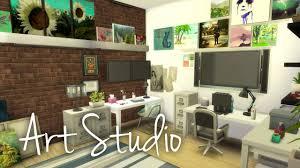 Art Studio Desk by The Sims 4 Room Building Art Studio Youtube
