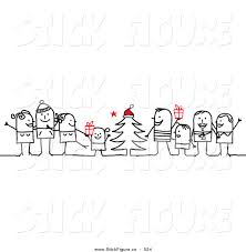 royalty free christmas tree stock stick figure designs