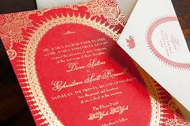 indian wedding invitation ideas moulin inspired gold foil wedding invitations
