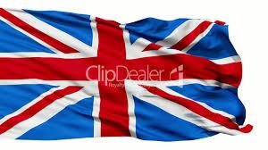 realistic 3d seamless looping great britain english flag waving