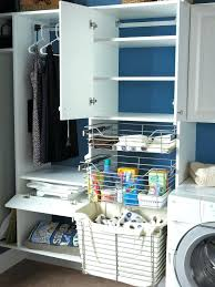 Laundry Room Storage Between Washer And Dryer Decoration Utility Room Shelving
