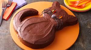 halloween black cat cake recipe bettycrocker com