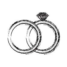 diamond rings sketch icons by canva