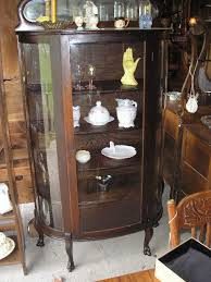 Curio Cabinets Under 200 00 Curved Glass China Cabinet Ebay