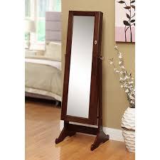 amazon com btexpert premium cherry cheval mirror jewelry cabinet