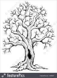 theme tree illustration of tree theme drawing 1