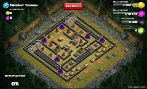 Coc Maps Defeat The Sherbet Towers With Th7 Troops Clash Of Clans Land
