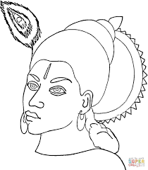 face of krishna coloring page free printable coloring pages