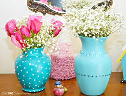 Florist Vases Glass Vase Makeover Pinkwhen