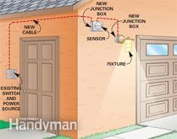 add motion sensor to outdoor light installing a remote motion detector for lighting family handyman