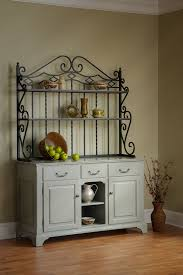bakers rack with cabinet open front buffet with baker s rack town country furniture
