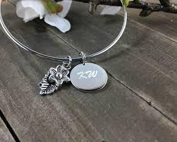 leaf charm bracelet images Leaf and flower charm bracelet engraved bangle charm bracelet jpg