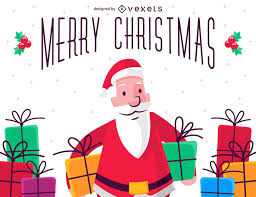 imagenes de santa claus feliz navidad ilustración de feliz navidad con santa claus descargar vector