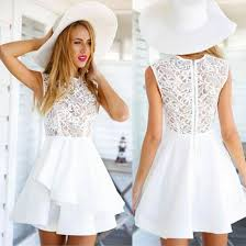 white lace dress special women s fuchsia white lace prom party dress