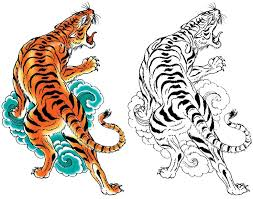 collection of 25 japanese tiger design