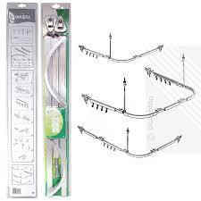 ecospa professional shower curtain hanging track rail 3