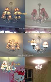 Child Chandelier Cotton Cloth Acrylic Crystal Lampshade Cover For Table Lamp Wall