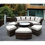 Half Round Sofas Amazon Com Half Circle Sectional Sofa Set With Round Coffee T