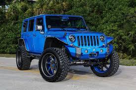 blue jeep custom jeep wrangler by performance custom jeep jeeps