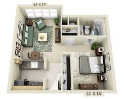 Garage Studio Apartment Floor Plan Availability For 2000 Post San Francisco Ca