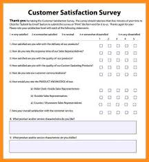 Resume Questionnaire Template 11 Customer Satisfaction Survey Template Excel Fillin Resume