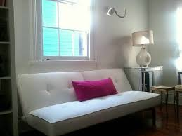 furniture white faux leather futon interior decoration and