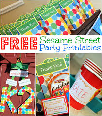 wrap party invitations free sesame street birthday party printables