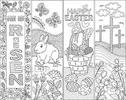 printable easter bookmarks to colour 8 printable easter coloring bookmarks easter coloring doodles