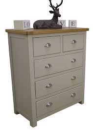 Painted Bedroom Furniture Grey Aspen Painted Oak Sage Grey Chest Of Drawers 2 Over 3 Drawer