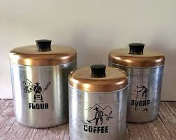 bronze kitchen canisters coffee canister etsy