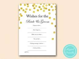 wishes for the and groom cards gold dots bridal shower wishes for groom bridal shower
