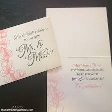 wedding wishes name wishes for newly married with name cards