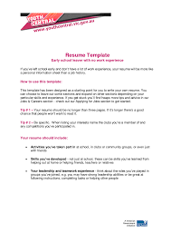 No Job Experience Resume Template by How To Write A Resume For High Students No Experience