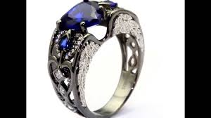 vancaro wedding rings vancaro heart cut lab created blue sapphire black wedding ring for