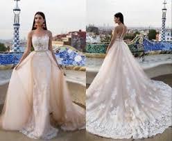 sheath wedding dress 2018 chagne white sheath wedding dress detachable skirt bridal