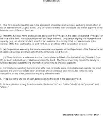 bid bond federal register federal acquisition regulation revision to