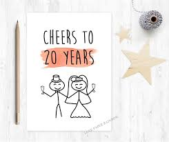 20th anniversary gift 20th wedding anniversary card 20th anniversary 20 years together