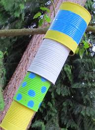 how to make a wind chime reusing tin cans can chime clever
