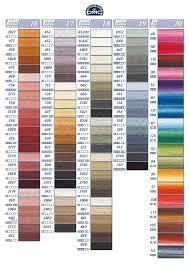 borduurpatroon allerlei u0026 vanalles kleurkaart dmc garen color